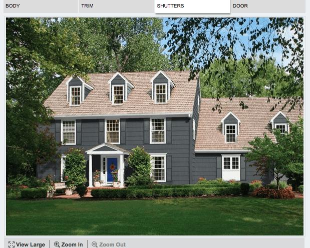 exterior house paint color scheme mockup