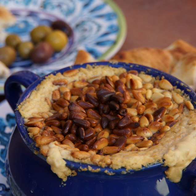 Warm Hummus with Pine Nuts (Moroccan Feast)