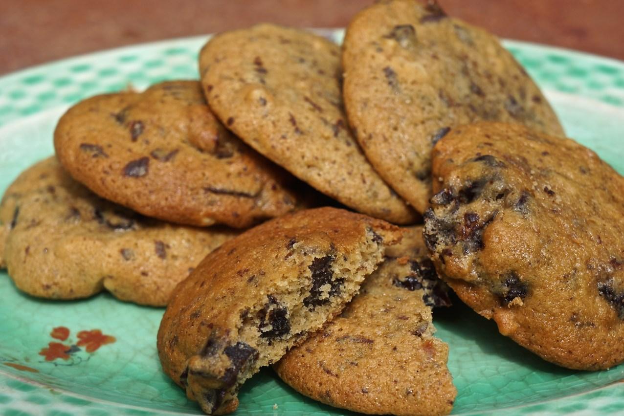 Chocolate Prune Cardamom Cookies.