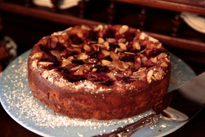 The Ricotta, Almond, Raspberry Cake is a totally gluten free pastry that's not too sweet and enjoyed by everyone.