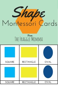 Free Printable 3-part Montessori Cards for Teaching Shapes. This is a great. Print now so you don't loose this to Pinterest!