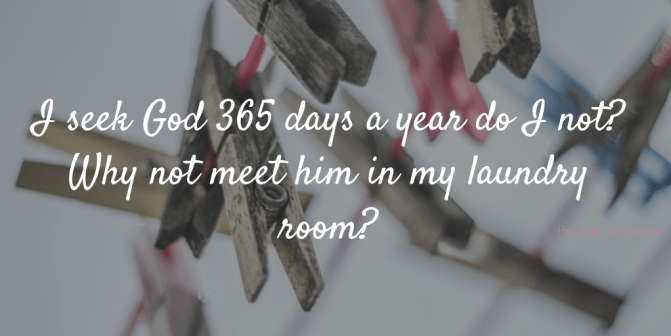 How one change has helped me to enjoy doing my laundry.