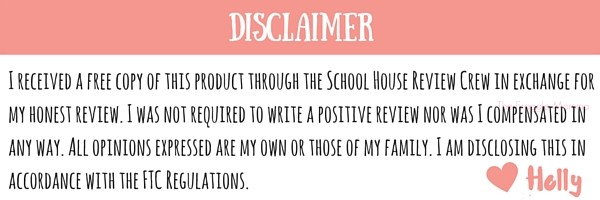 Disclaimer-Schoolhouse Review Crew