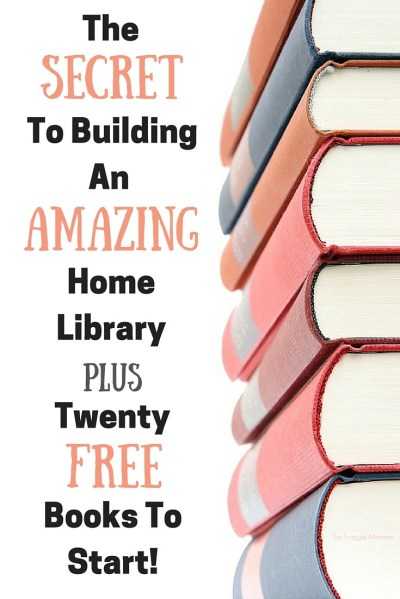 Love these tips for building a free home library. This list includes so many classic living books too. I love love love that these are all free! I love homeschooling for free!