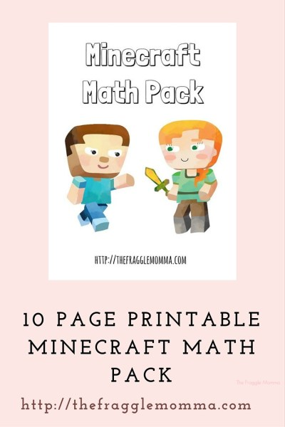 Free printable Minecraft math pack!