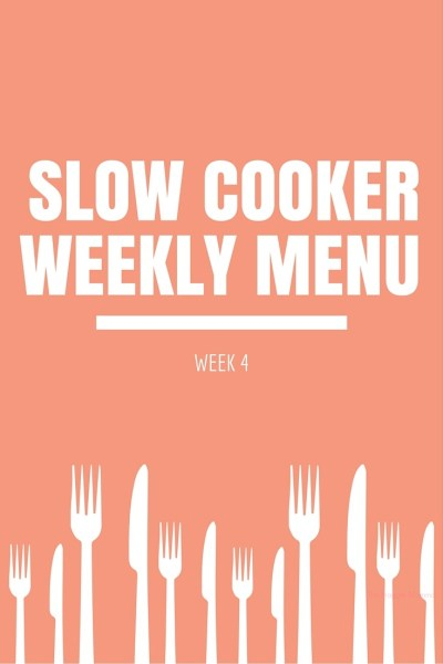 Slowcooker Weekly Menu for Busy Moms. I seriously love this series. I don't have to pay for meal planning and I get a meal plan each week! LOVE IT!
