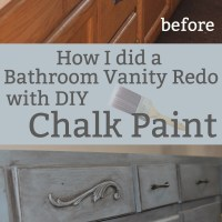Chalk Painting a bathroom vanity