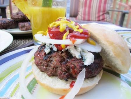Pineapple Mango Mojitos, Caprese Salad and Jumbo Burger