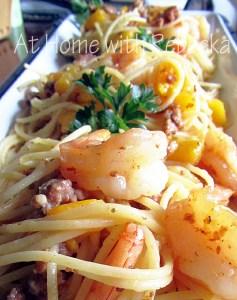 "Shrimp & Pasta Carbonara Amore ~ Old Bay and Shrimp Council ""Shrimp & Pasta Party!"""
