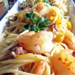 "Shrimp & Pasta Carbonara Amore ~ Old Bay and Shrimp Council ""Shrimp & Pasta Party!"""