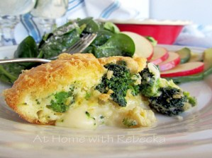 Low Carbohydrate Recipe: Crust-less Broccoli Swiss Quiche and Simple Spinach Salad