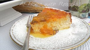 Ricotta Cheesecake with Pineapple, Peach Compote