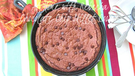 Chocolate Chip Skillet Brownies