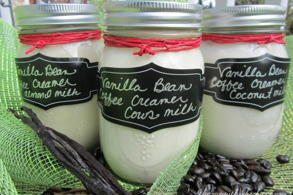 These recipes for Handcrafted Coffee Creamers are gluten free and dairy free. Homemade coffee creamer has NO corn syrup and is lower in fat and calories.