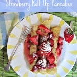 Roll-up pancakes are similar to crepes, but thicker, and made with buttermilk. This strawberry roll-up pancakes recipe makes the perfect brunch entree.