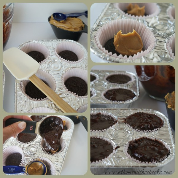 Oreo Peanut Butter Brownies Step by Step