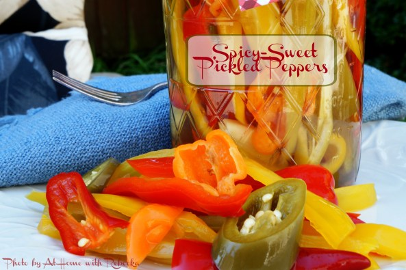 spicy-sweet pickled peppers