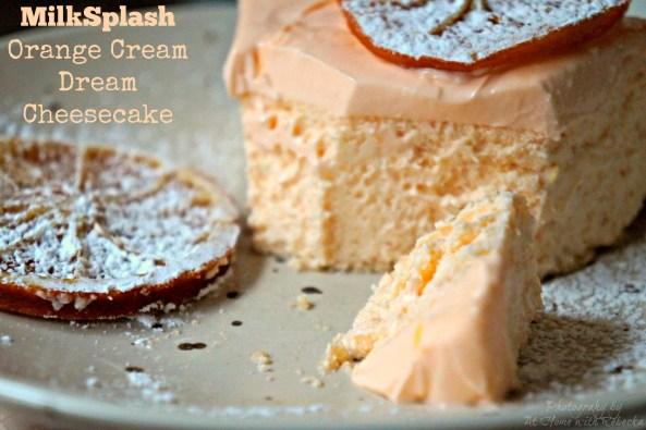 Orange Cream Dream Cheesecake made with MilkSplash Flavoring