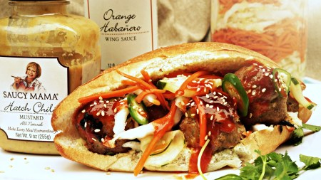 Orange Habanero Banh Mi Sandwiches