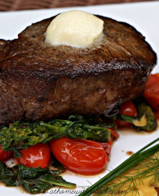 Filet Mignon with Horseradish Compound Butter