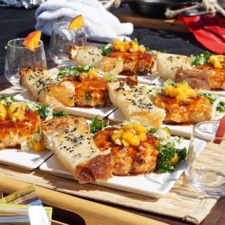 Golden-Garlic Hoisin Salmon Cakes