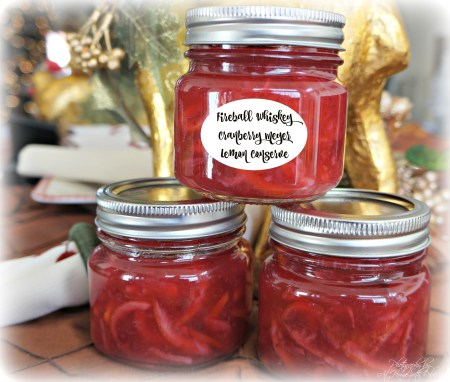 Fireball Cranberry Lemon Conserve