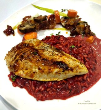 Red beet risotto is a savory rice side dish made from fresh red beets and arborio rice. Beet risotto comes together in about 30 minutes