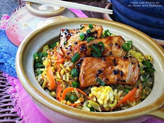 Black Sesame Pork Fried Rice