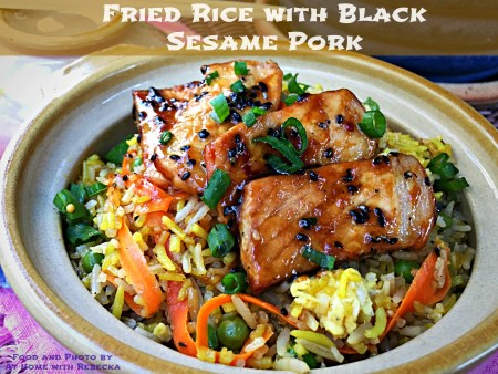 Fried Rice with Black Sesame Pork