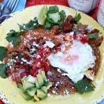 Huevos Rancherosis an easy Mexican breakfast recipe. It is a cinch to make, and packed with authentic Mexican flavors