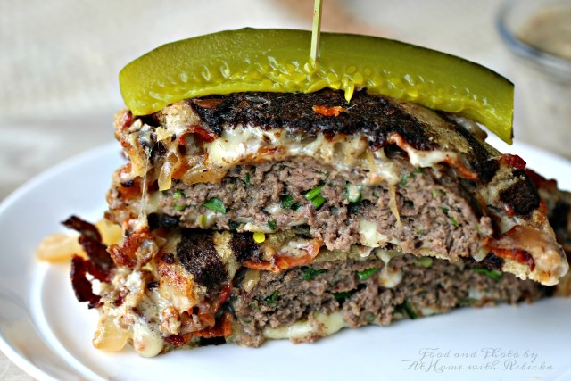 Beef and Lamb Patty Melt Recipe