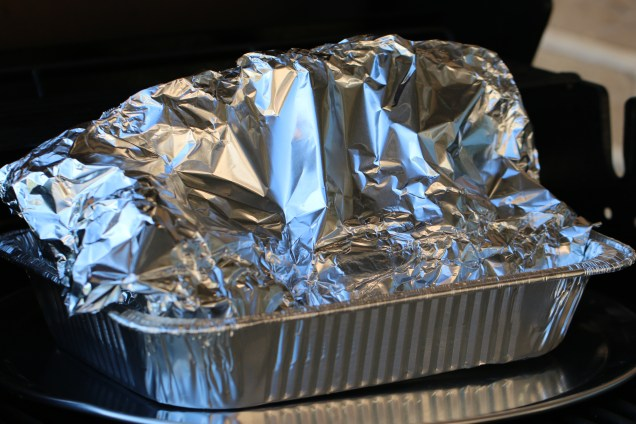 ham in foil roasting pan