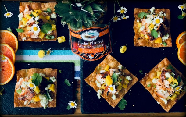 Orange Ginger Salmon Nachos