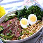 Steak and Egg Udon Noodles recipe
