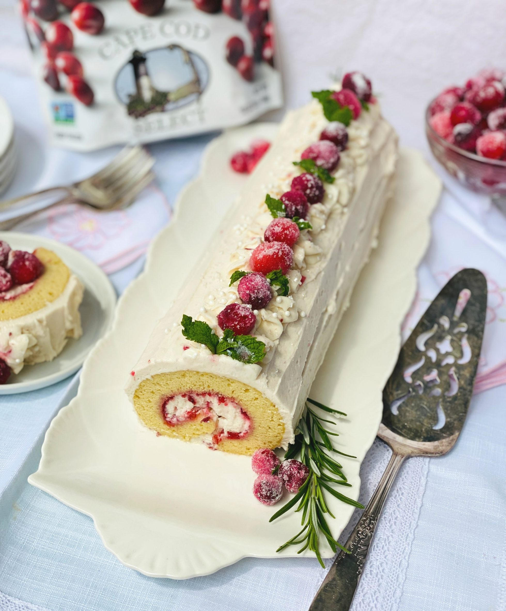 Cranberry Jelly Swiss Roll