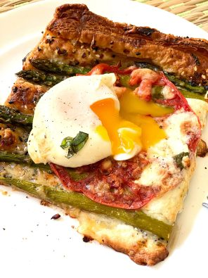 Asparagus Tomato Egg Tart