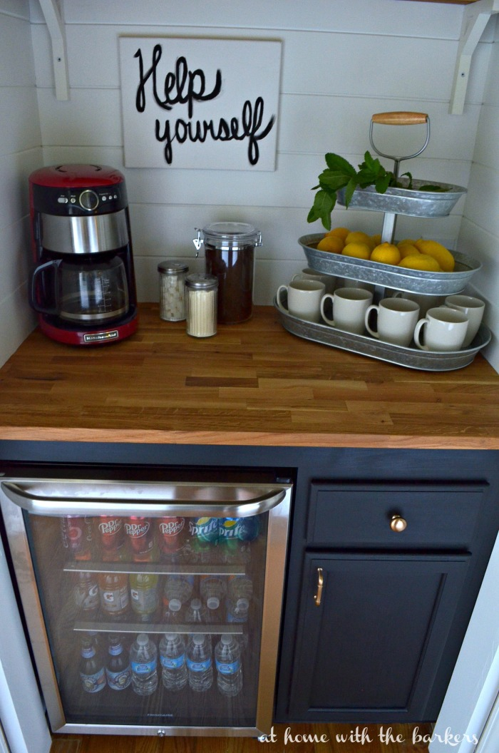 Beverage Bar with Hickory Hardware cottage knobs and pulls