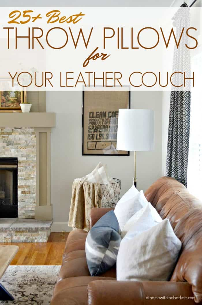 best throw pillows for leather couch