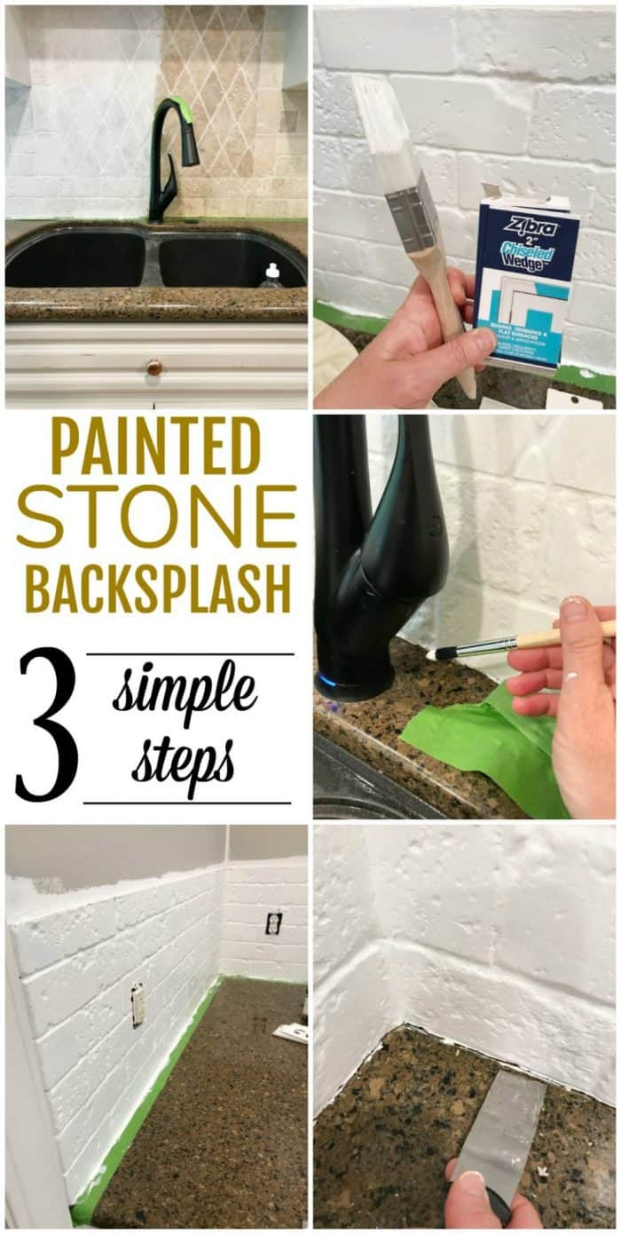 to paint a stone backsplash