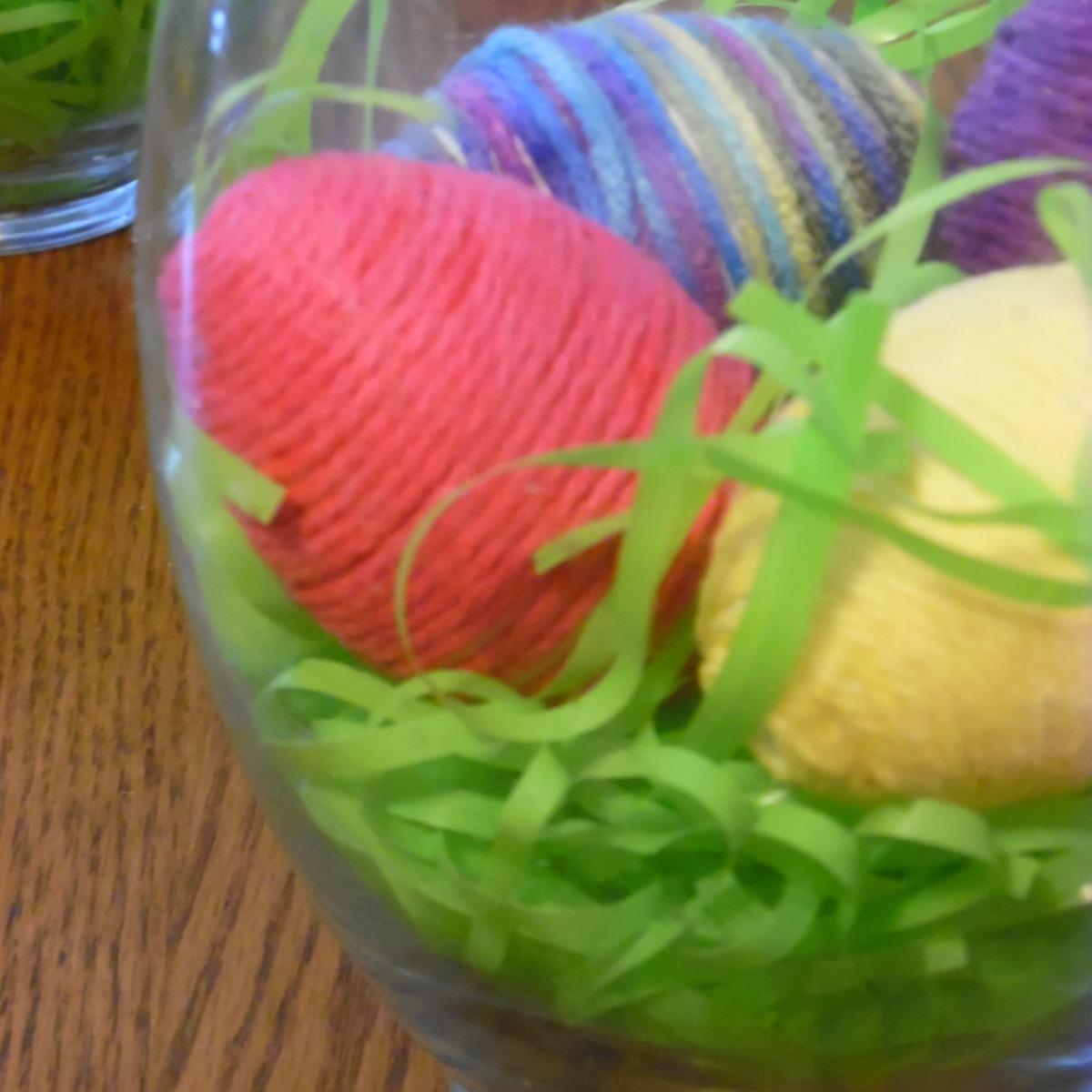 Yarn Egg Decor