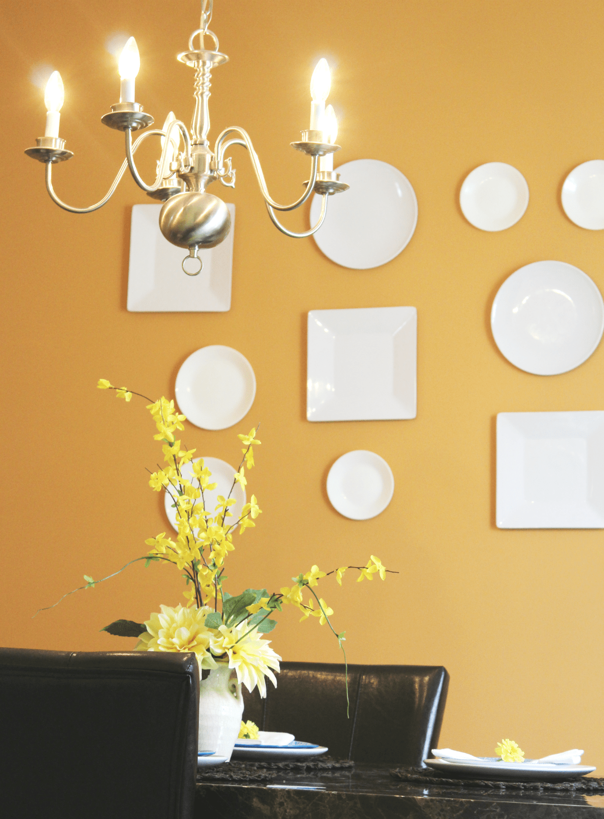 Dinning room reveal - plate wall