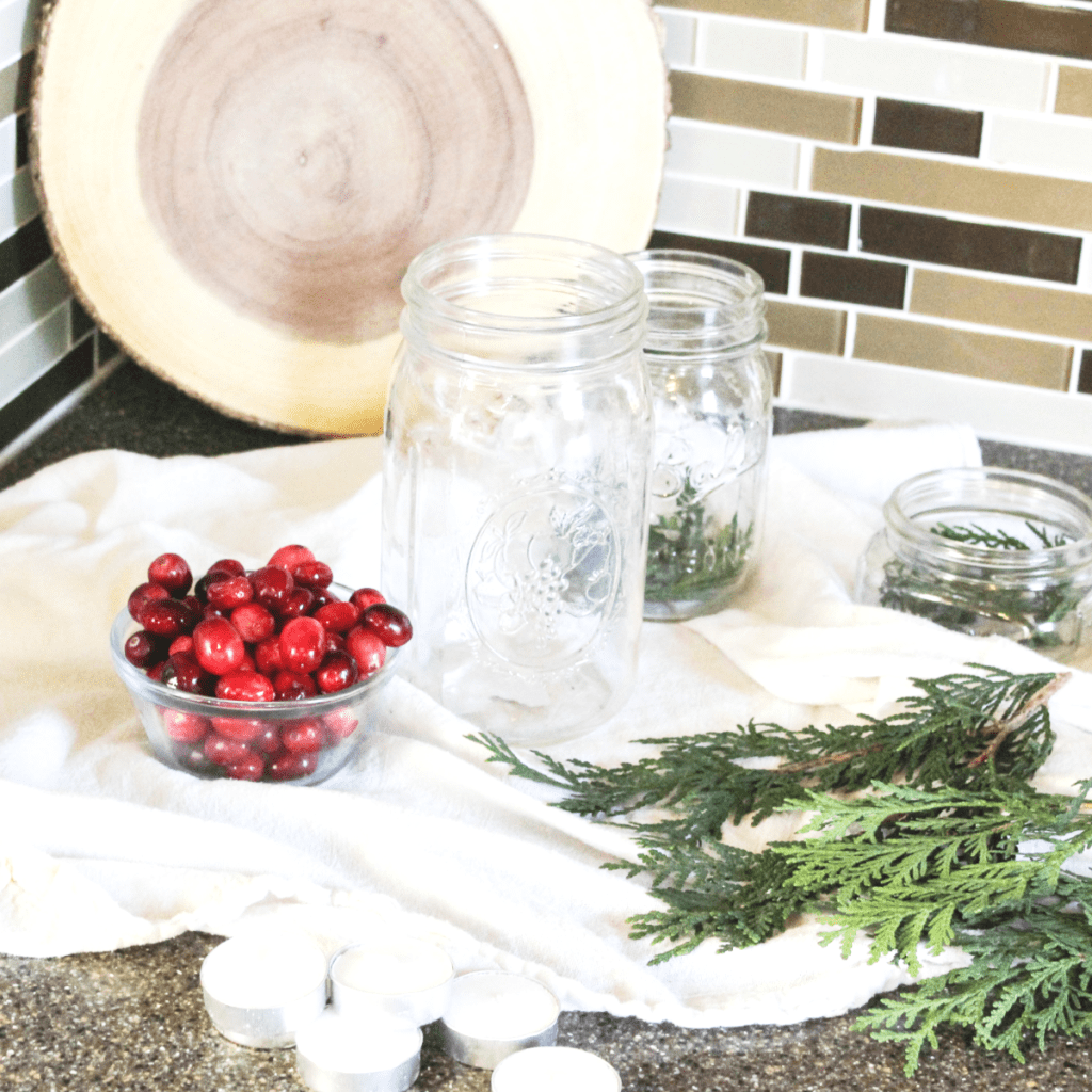 diy-holiday-centerpiece-greenery-materials