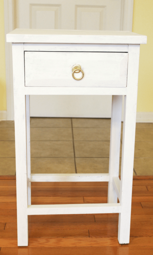 End table painted white