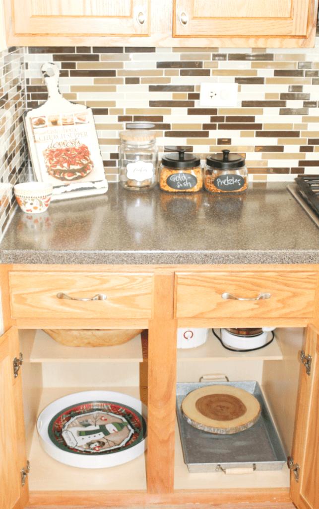 kitchen drawer organization - appliances and trays