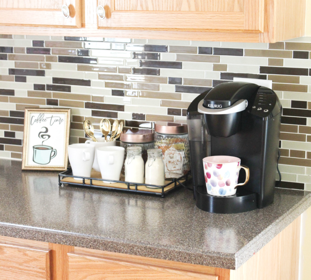 How to Create a Small Coffee Station - At Your Home - At Home With Zan