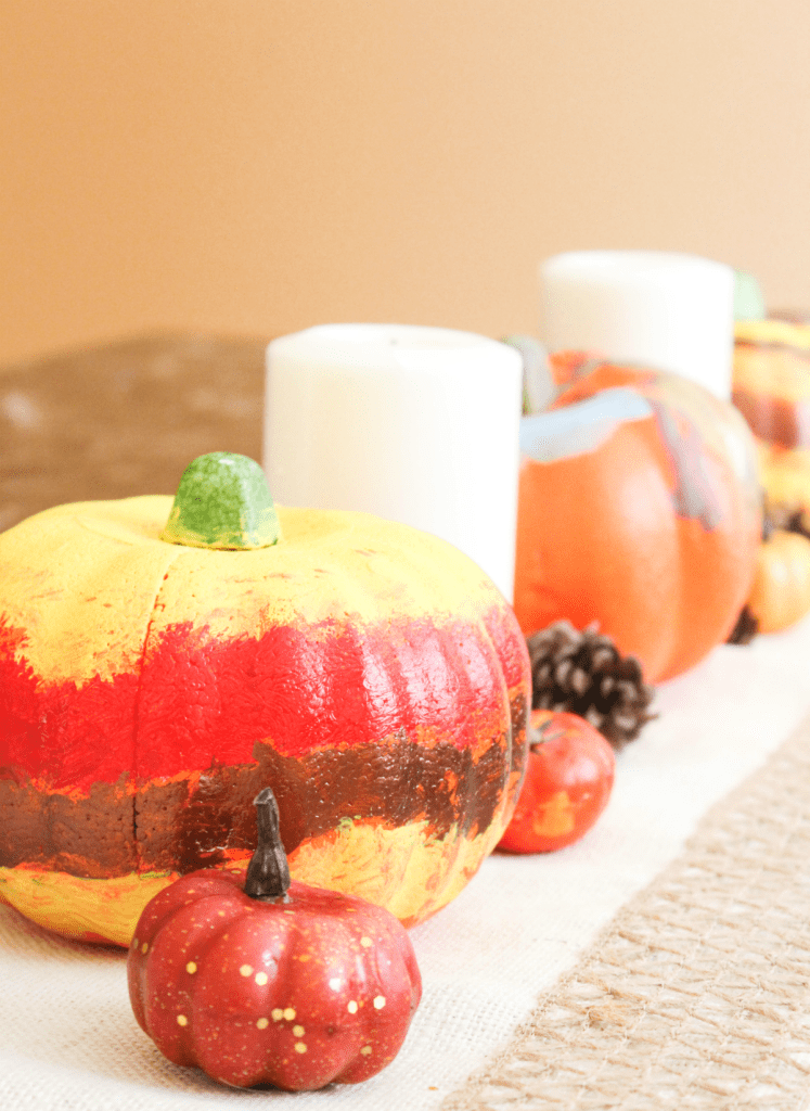 Kid Painted Pumpkins - At Home With Zan