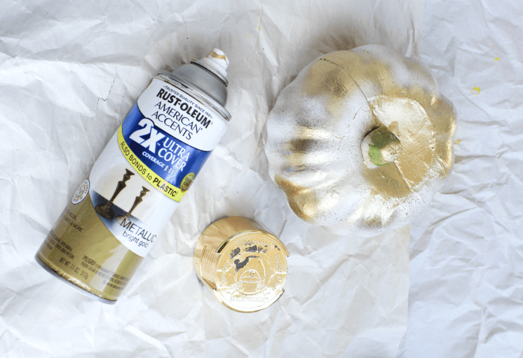Painting Pumpkins - Gold - White - At Home With Zan