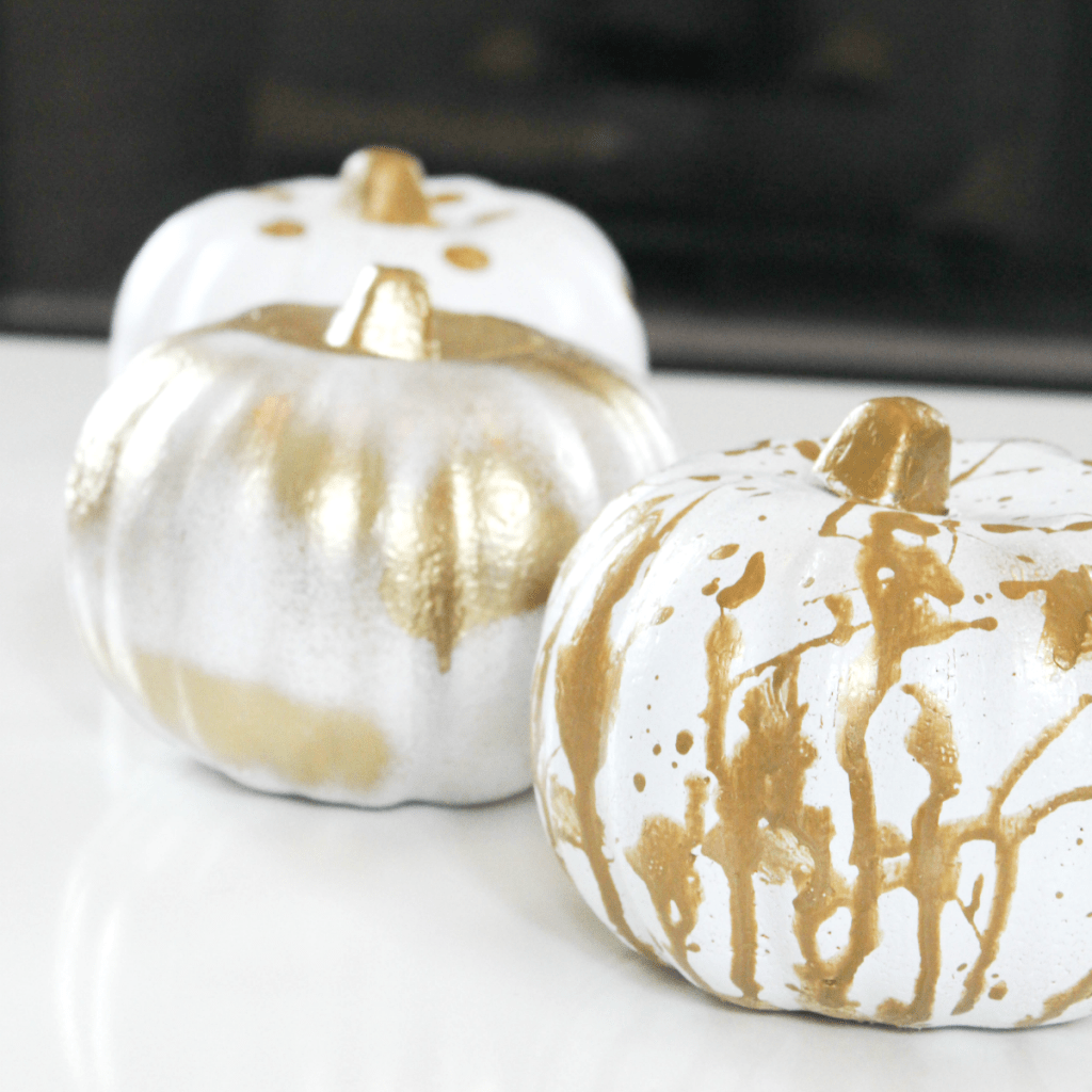Painting Pumpkins - Splatter Paint - At Home With Zan