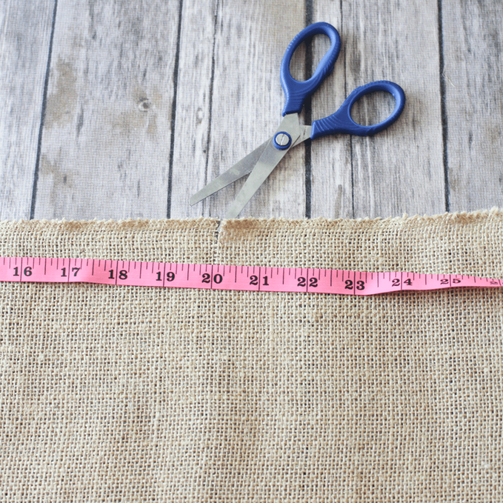 -DIY Burlap Placemats - Measurements - Cutting - At Home With Zan-