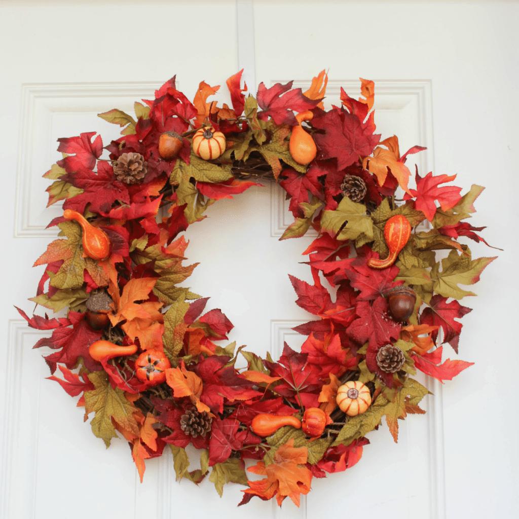 Fall Wreath - Autumn Wreath - At Home With Zan